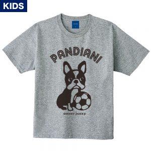Pandiani !!! キッズ 半袖TEE(ヘザーグレー)