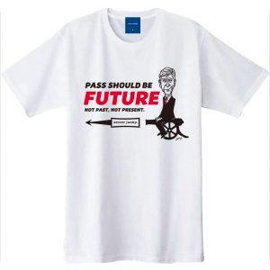 PASS SHOULD BE FUTURE 半袖TEE(ホワイト)