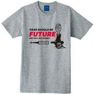 PASS SHOULD BE FUTURE 半袖TEE(ヘザーグレー)