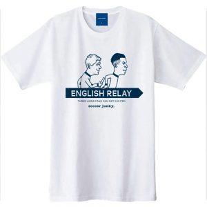 ENGLISH RELAY 半袖TEE(ホワイト)