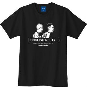 ENGLISH RELAY 半袖TEE(ブラック)