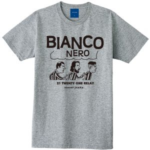 BIANCO NERO 半袖TEE(ヘザーグレー)