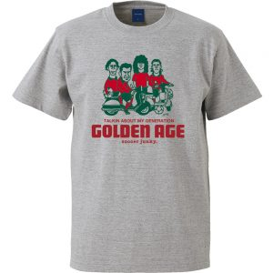 Golden age 半袖TEE (ヘザーグレー)