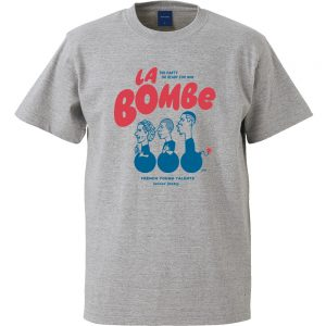 La bombe 半袖TEE (ヘザーグレー)