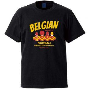 ベルギーワッフル 半袖TEE (ブラック)