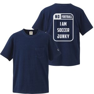 NO Football NO Soccer Junky インディゴTEE(インディゴ)