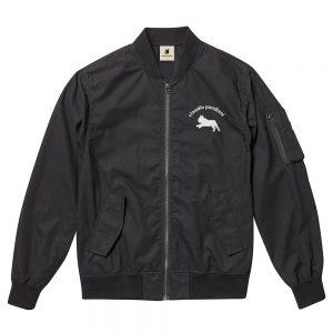 MA-ワン!+1 ライトMA-1ジャケット (ブラック)
