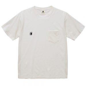 ナチュラル感+3顔料染め半袖TEE(ホワイト)