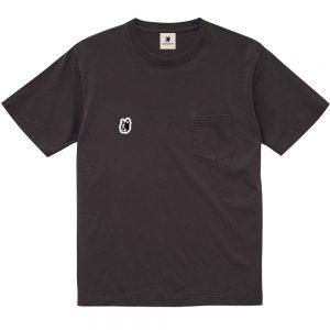 ナチュラル感+3顔料染め半袖TEE(ブラック)