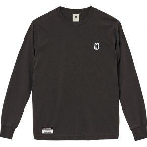天馬くん+2顔料染めロングTEE(ブラック)