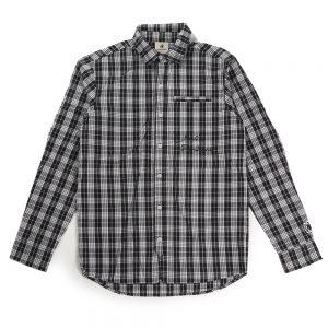 Le Mans Sun+8チェックシャツ(ブラック)