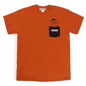 ひょっこりナッツくん+1半袖TEE(オレンジ)