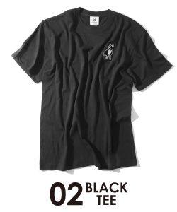 パイド半袖TEE(ブラック)