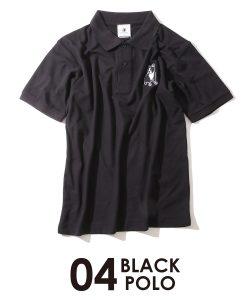 パイドポロシャツ(ブラック)