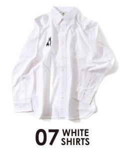 パイド長袖シャツ(ホワイト)